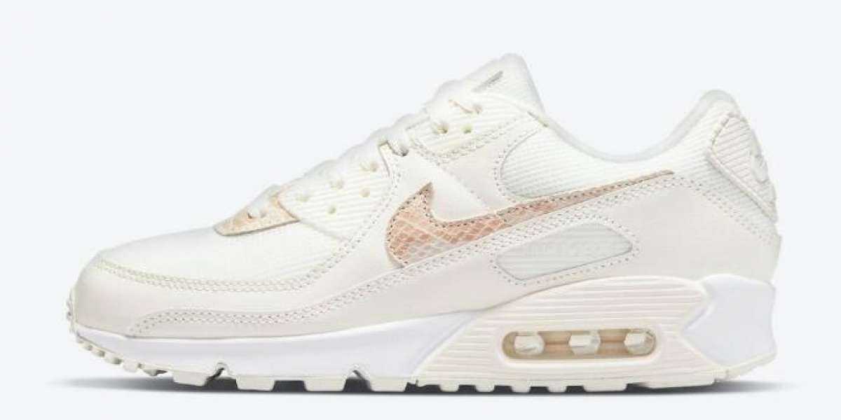 Nike Air Max 90 Beige Snake DH4115-101 Sail Particle Beige White for Sale