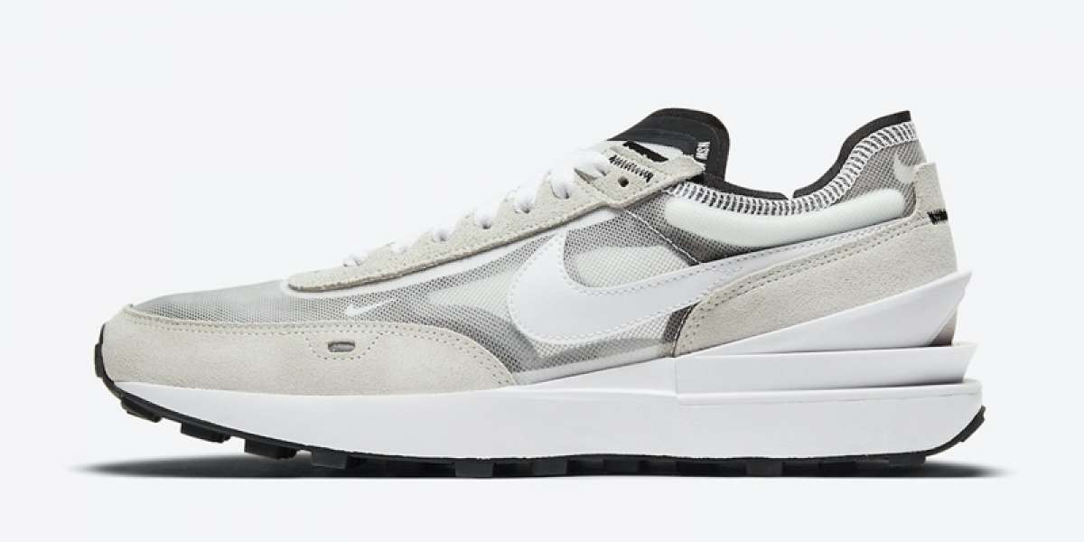 """A pair of Nike Waffle One """"Summit White"""" DA7995-100 shoes this summer?"""