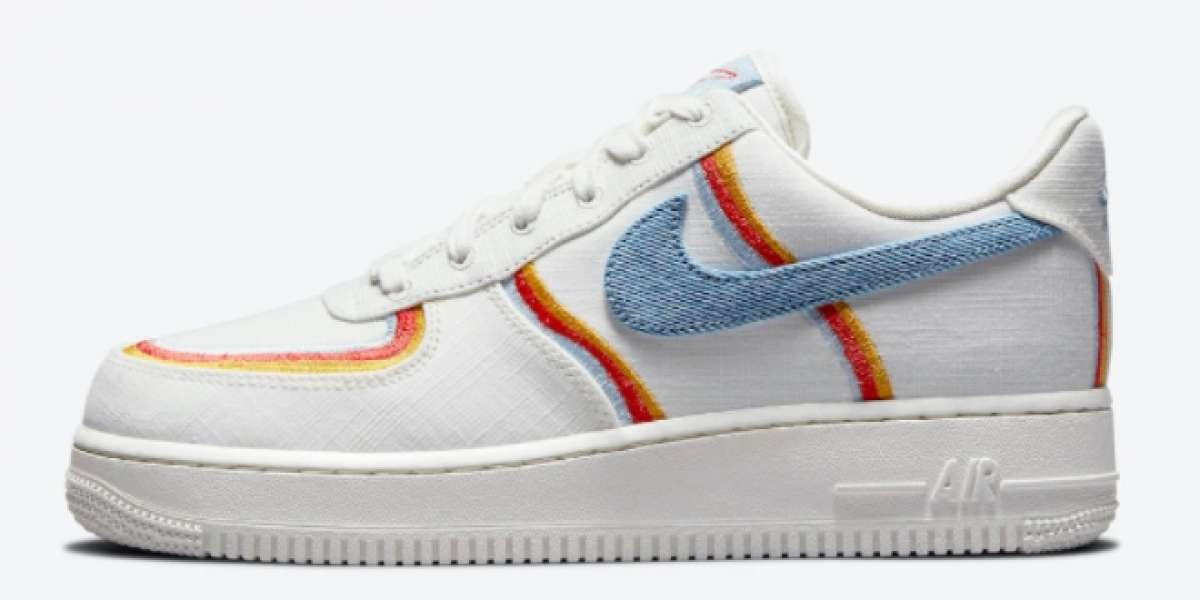 Nike Wmns Air Force 1 Low Sail Armory Blue Chili Red 2021 New Arrival DJ4655-133